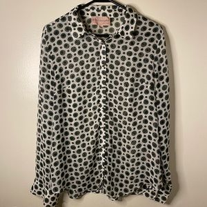 Philosophy Patterned Button Down Blouse